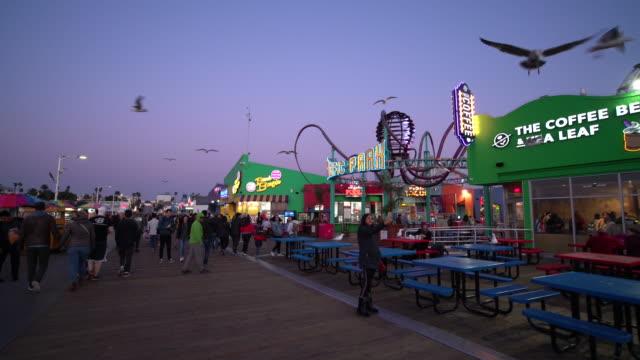 santa monica pier - santa monica pier stock videos & royalty-free footage