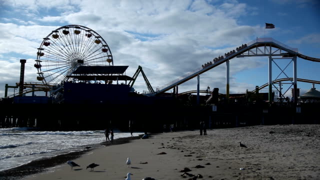 santa monica pier - santa monica pier stock videos & royalty-free footage
