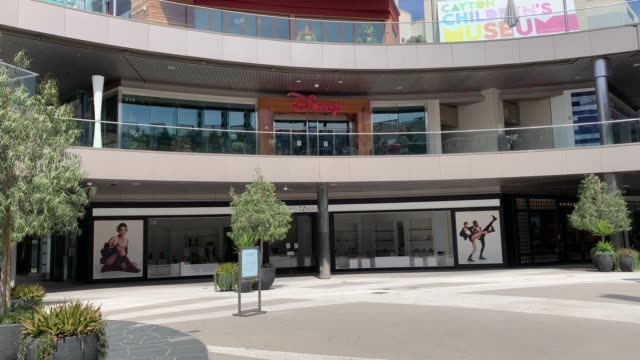 santa monica place mall vacant major cities in the us adjust to restrictive coronavirus measures march 30 2020 on march 30 2020 in santa monica ca... - santa monica city stock videos & royalty-free footage