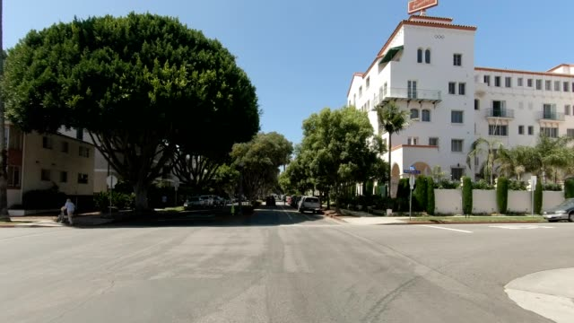 santa monica v synced series front view driving process plate - santa monica house stock videos & royalty-free footage