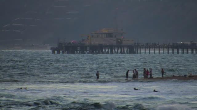 Santa Monica Venice Beach ocean storm surf