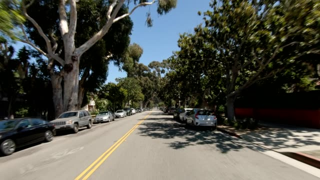 santa monica vi synced series front view driving process plate - santa monica house stock videos & royalty-free footage