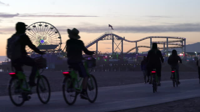 santa monica - santa monica pier stock videos & royalty-free footage