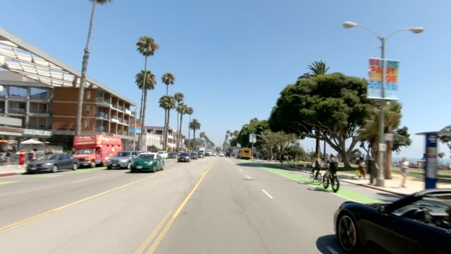 santa monica viii synced series front view driving process plate - santa monica house stock videos & royalty-free footage