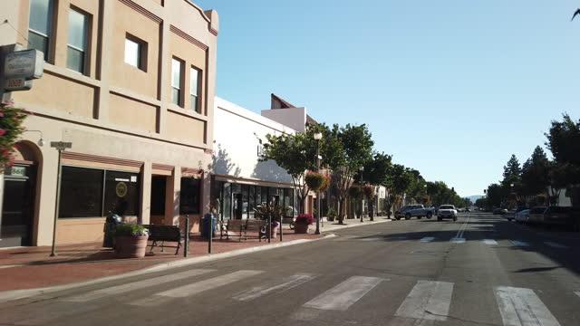 santa paula main street, california - street name sign stock videos & royalty-free footage