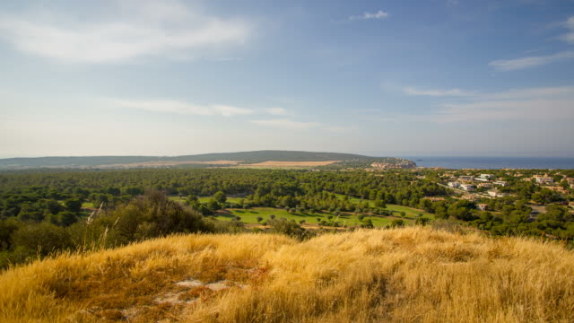 santa ponsa magaluf view golf resort majorca palma de mallorca - palma stock videos & royalty-free footage