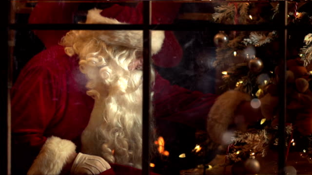 santa present night - funny merry christmas greetings stock videos and b-roll footage