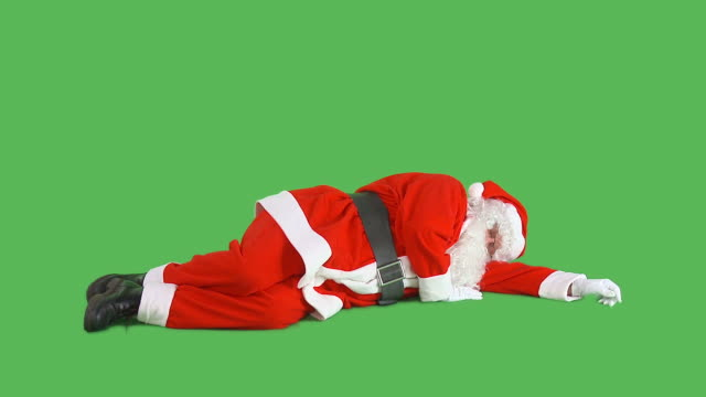 hd: santa taking a nap - snoring stock videos and b-roll footage