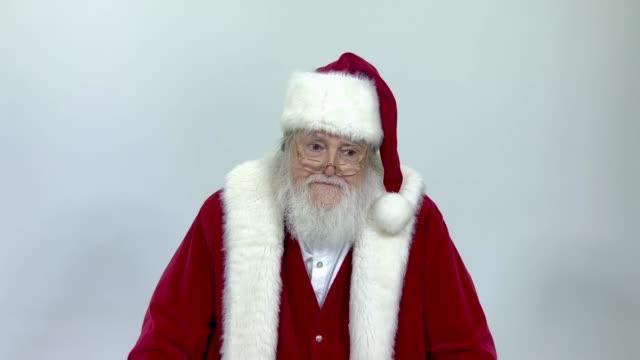santa - rolling eyes stock videos & royalty-free footage