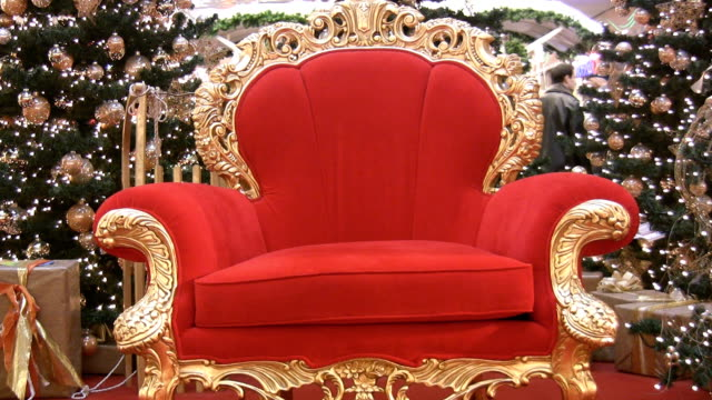 santa´s chair - chair stock videos & royalty-free footage