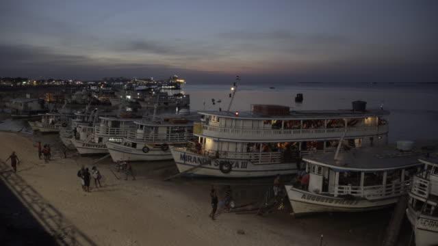 santarém's port at evening summer day - para state stock videos & royalty-free footage