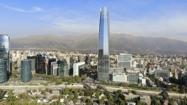 santiago chile from above - chile stock videos and b-roll footage