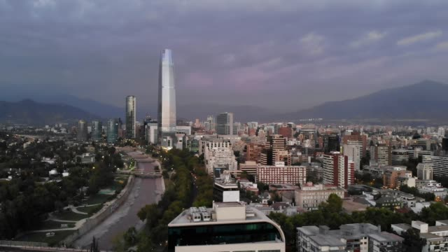 santiago chile from air - chile stock videos & royalty-free footage