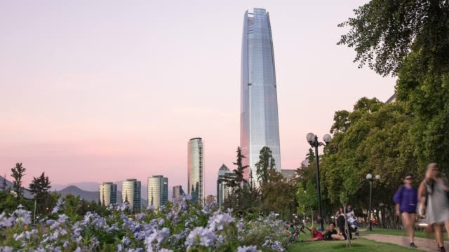 santiago chile timelapse zoom out - chile stock videos & royalty-free footage