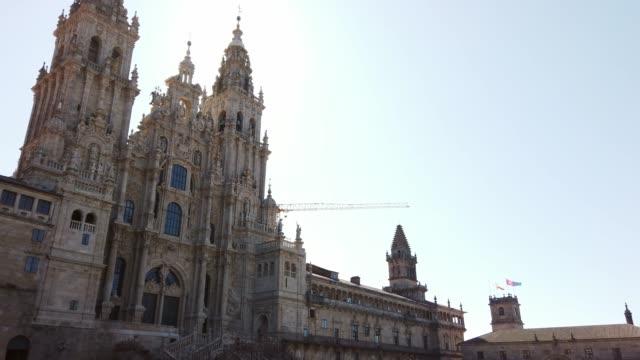 vídeos y material grabado en eventos de stock de santiago de compostela cathedral - galicia