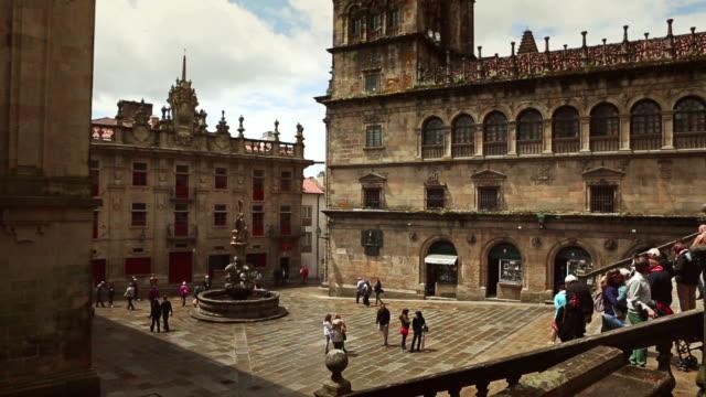 vídeos y material grabado en eventos de stock de catedral de santiago - galicia