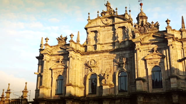 santiago de compostela cathedral - cathedral stock videos and b-roll footage