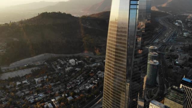 santiago financial district / sanhattan - chile stock videos & royalty-free footage