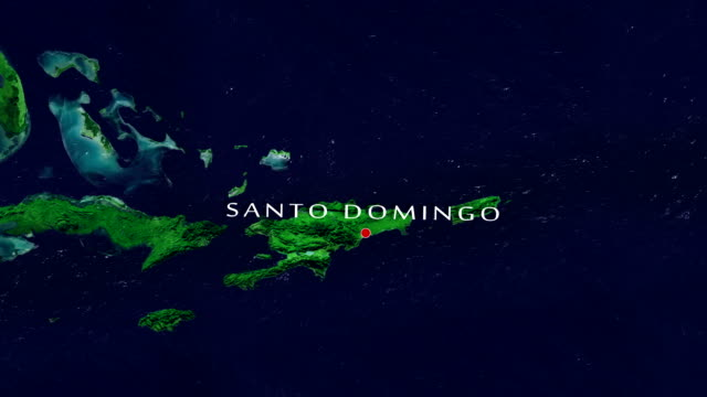 santo domingo 4k zoom in - dominican republic stock videos and b-roll footage