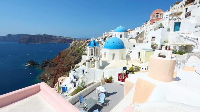 hd: santorini famous churches - oia santorini stock videos and b-roll footage
