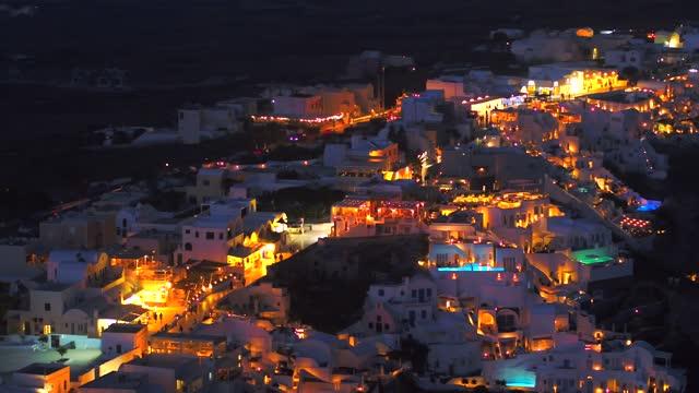 santorini greece romantic oia video footage with 4k high quality drone stock video - oia santorini stock videos & royalty-free footage