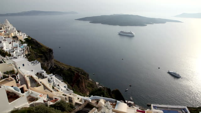 santorini island, greece - insel santorin stock-videos und b-roll-filmmaterial