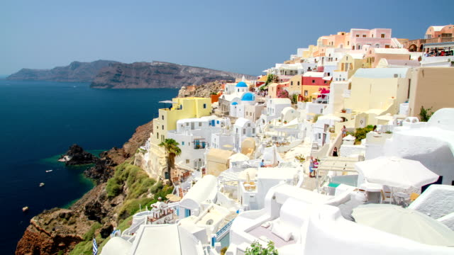 santorini island, greece. - oia santorini stock videos & royalty-free footage