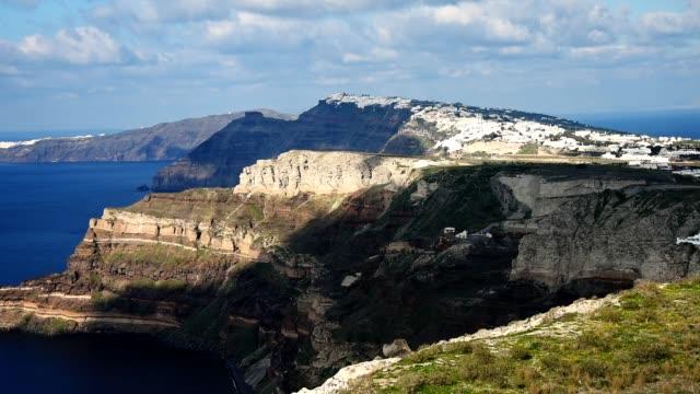 santorini timelapse from oia village