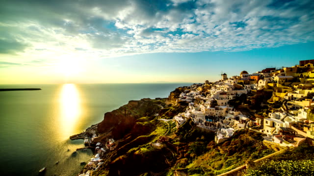 stockvideo's en b-roll-footage met santorini time-lapse - oia santorini