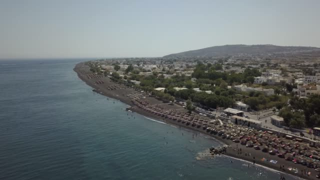 santorini viewed from the air - santorini stock videos & royalty-free footage