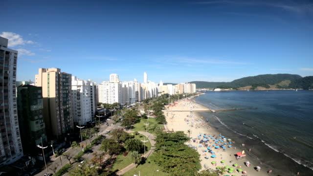 stockvideo's en b-roll-footage met santos-brazilië - brede straat