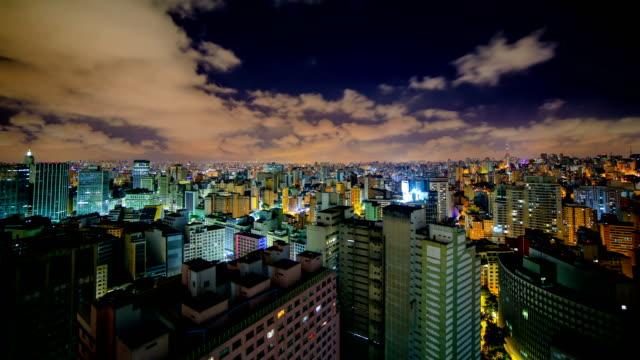 vídeos de stock, filmes e b-roll de são paulo, brasil - time lapse