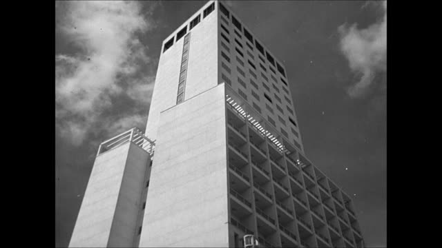 sao paulo city la ms modern building ha xws brazilians crowded on busy city street la ms modern apartment building ws highway tunnel entrance int ls... - 1944 stock videos and b-roll footage