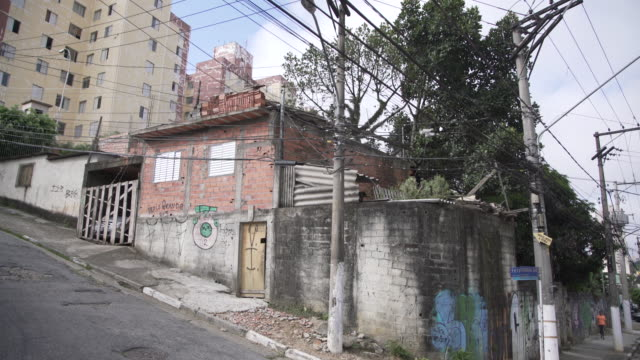 sao paulo cityscape - favela stock videos and b-roll footage