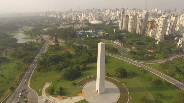 stockvideo's en b-roll-footage met sao paulo - cityscape - obelisk