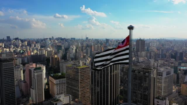 sao paulo downtown aerial view - são paulo stock videos & royalty-free footage