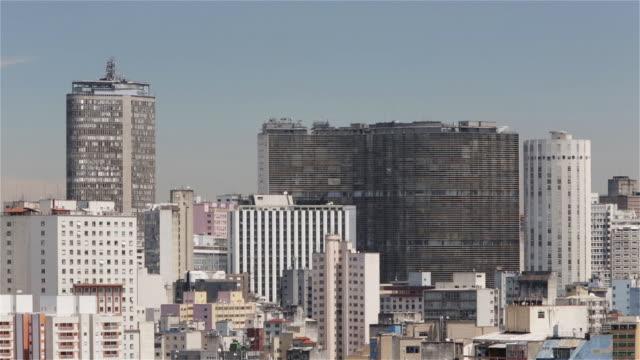 ls, ha, r/f sao paulo downtown skyline view of edificio italia and edificio copan / sao paulo, brazil - oscar niemeyer stock videos and b-roll footage