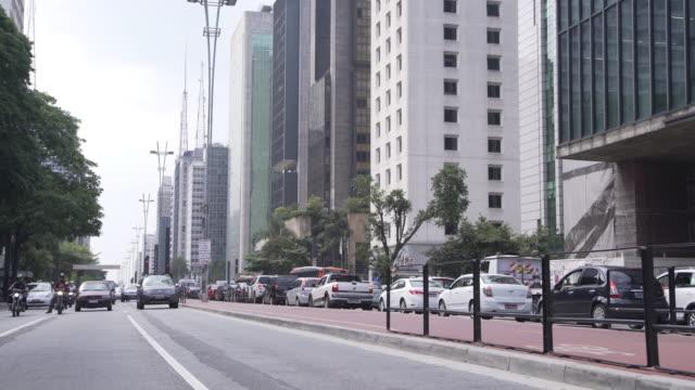 sao paulo downtown - avenida paulista stock videos & royalty-free footage