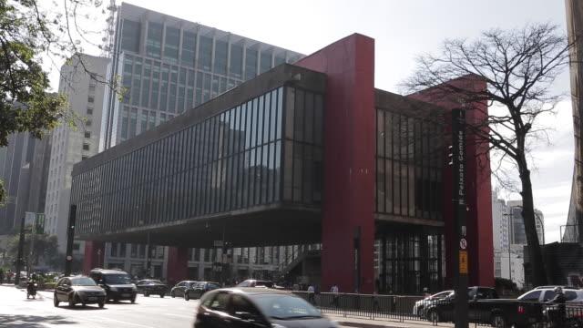 sao paulo museum of art or masp - decorative art stock videos & royalty-free footage