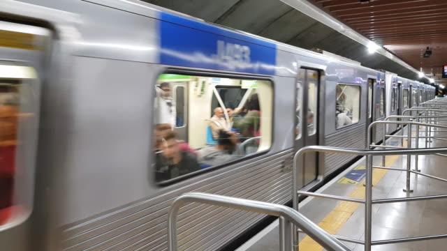 sao paulo subway - underground stock videos & royalty-free footage