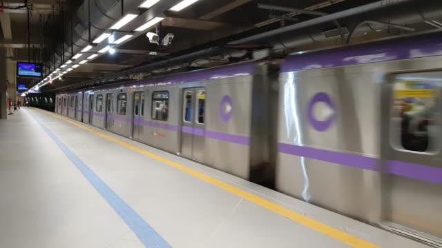 sao paulo subway - são paulo stock videos & royalty-free footage