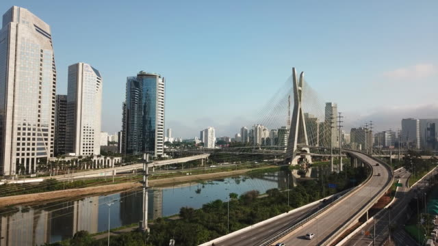 sao paulo - cable stayed bridge stock videos & royalty-free footage