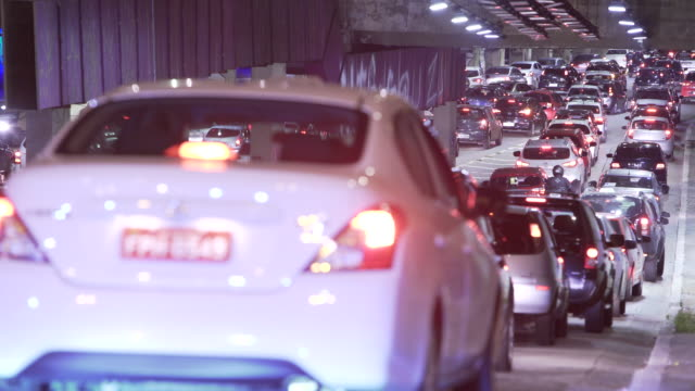 sao paulo - tail light stock videos & royalty-free footage