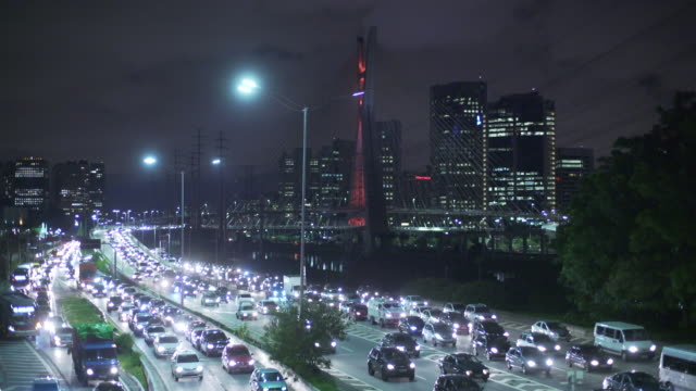 sao paulo´s traffic - traffic jam stock videos & royalty-free footage