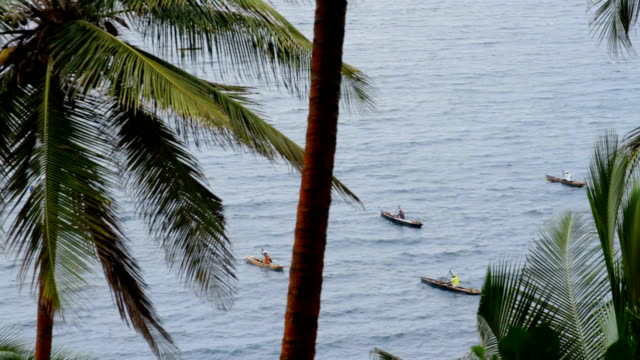 sao tomé and principe, sao tomé island, neves, diogo vaz bay, fishermen - fisherman stock videos & royalty-free footage