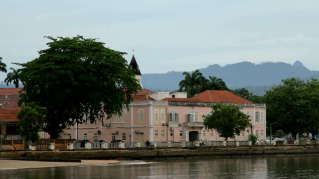 sao tomé and principe, sao tomé island, sao tomé city, colonial building of supreme court of justice - courthouse stock videos and b-roll footage