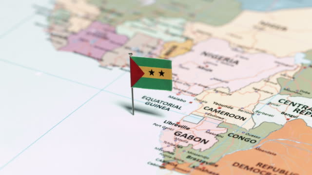 sao tome and principe with national flag - suez canal stock videos & royalty-free footage
