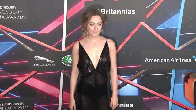 saoirse ronan at 2015 jaguar land rover british academy britannia awards presented by american airlines in los angeles ca - land rover stock videos and b-roll footage
