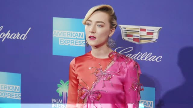 Saoirse Ronan at the 29th Annual Palm Springs International Film Festival Awards Gala at Palm Springs Convention Center on January 02 2018 in Palm...