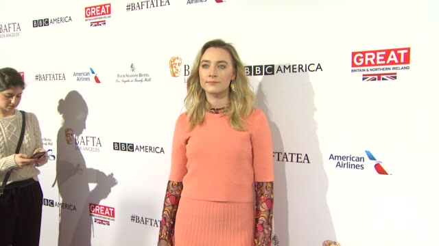 saoirse ronan at the bafta los angeles awards season tea party at four seasons hotel los angeles at beverly hills on january 09 2016 in los angeles... - tea party stock videos and b-roll footage